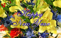 Happy new year ecard floral