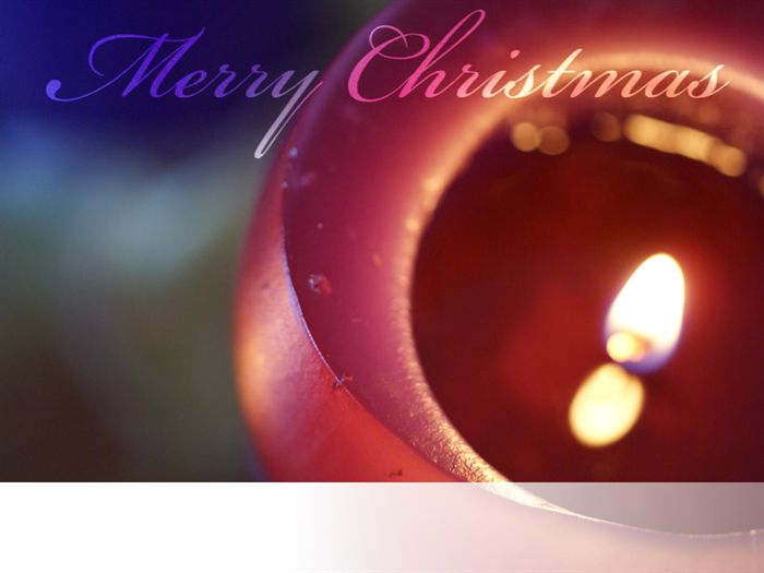 Christmas Ecard with Candle