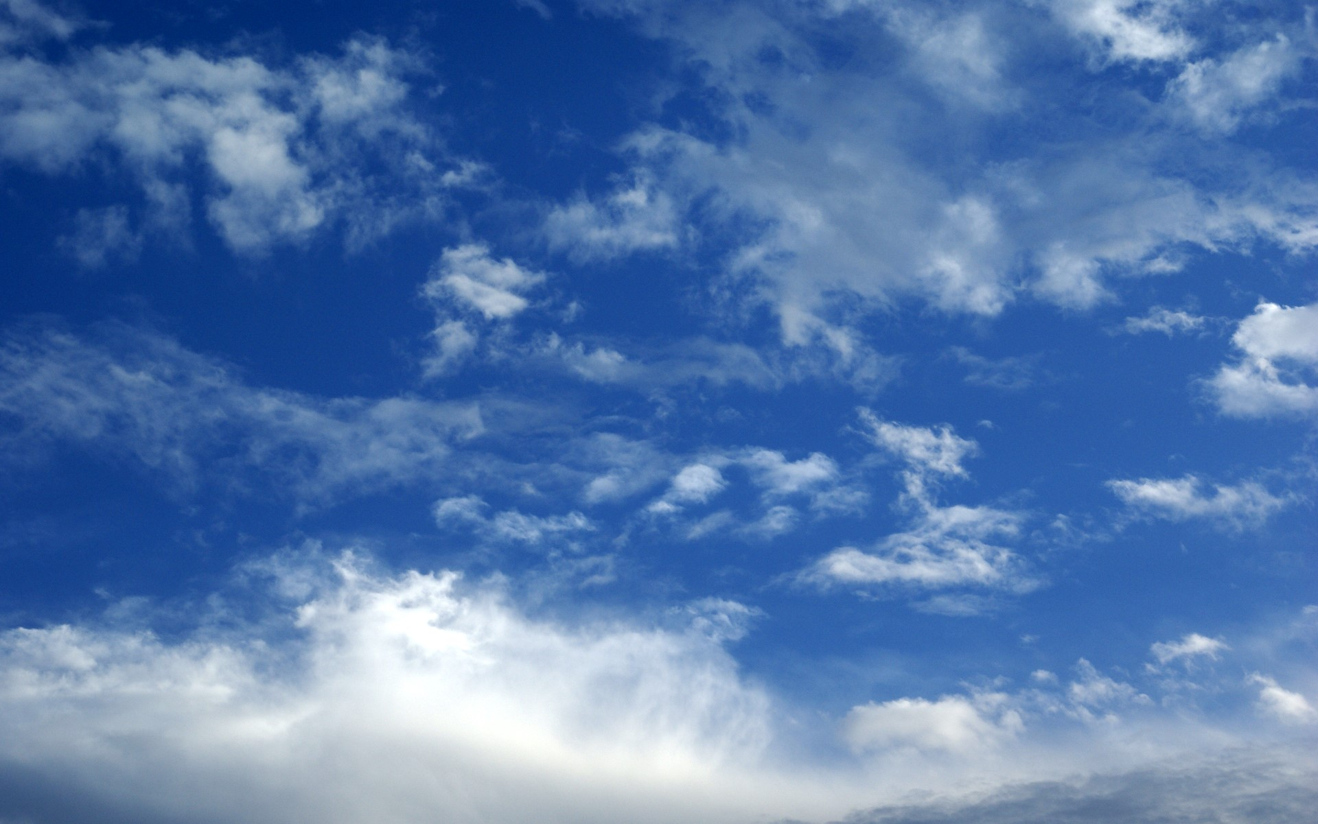 blue sky and clouds photo