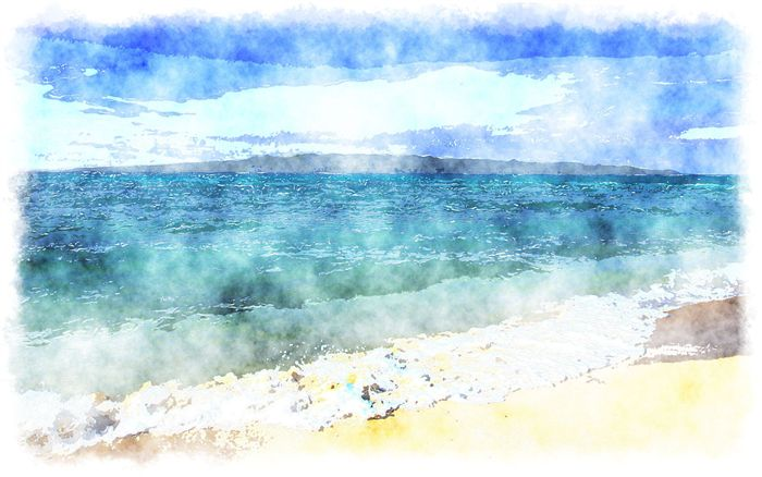 watercolor ocean